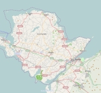 Anglesey plattegrond kaart